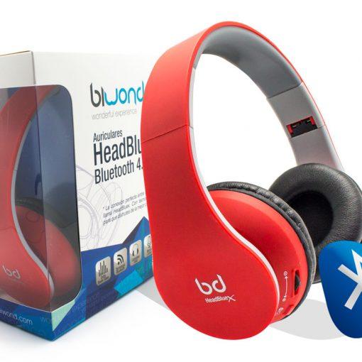 Auricular HeadBluex Bluetooth 4.0 Rojo Biwond