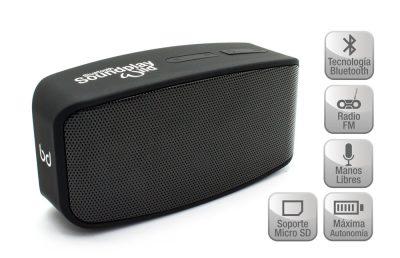 Altavoz SoundPlay Wild Bluetooth Negro Biwond
