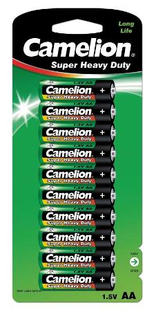 Pilas Salinas AA (R06) 1.5V (10 pcs) Camelion