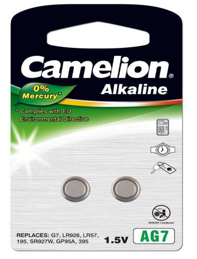 Pila Botón Alcalina LR57 1.5V 0% Mercurio (2 pcs) Camelion