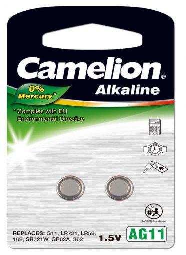 Pila Botón Alcalina LR58 1.5V 0% Mercurio (2 pcs) Camelion