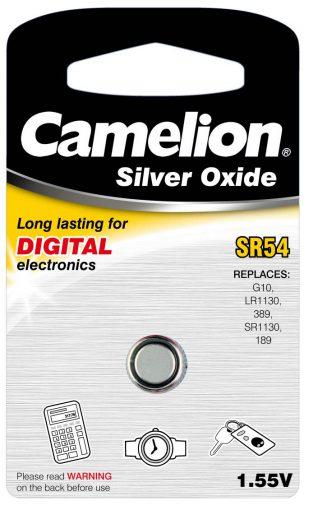 Boton Oxido plata SR54W 1.55V (1 pcs) Camelion