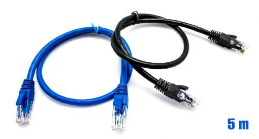 Pack x2 Cable UTP RJ45 24AWG CAT6 5m + 50 Bridas Multicolor BIWO