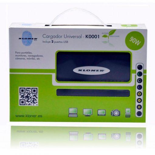 Cargador Portatil 90W Kloner 8 Conectores 2 USB