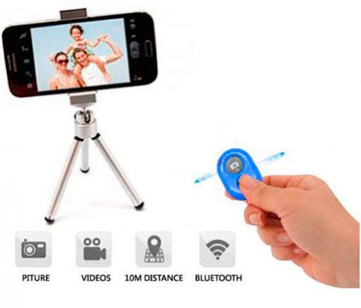 Disparador Cámara remoto Bluetooth Azul