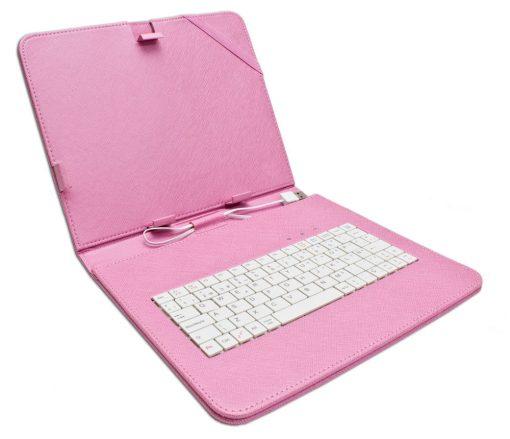 """Funda Tablet Teclado 9.7"""" Rosa"""