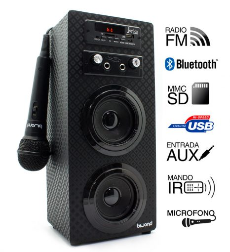 JoyBox Karaoke Bluetooth Negro Biwond