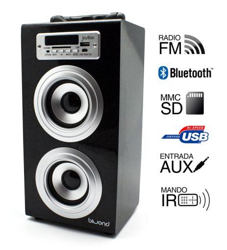 Reproductor JoyBox Bluetooth Negro Biwond