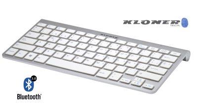 Teclado Bluetooth v3.0 Aluminio y Blanco Kloner