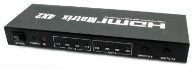 Splitter Switch Matrix 4x2 HDMI Biwond