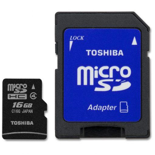 MicroSD 16GB Clase4 Toshiba