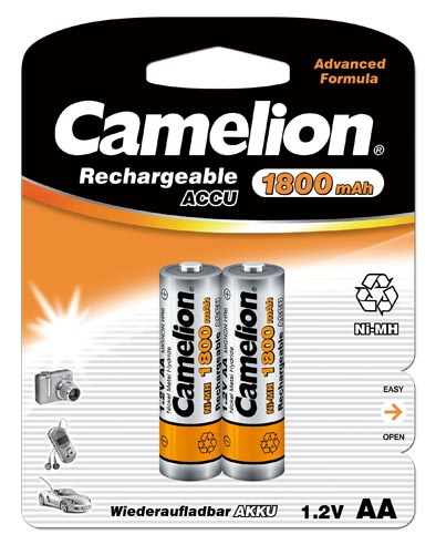 Recargable AA 1800mAh (2 pcs) Camelion