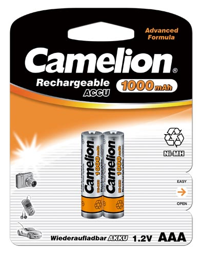 Recargable AAA 1000mAh (2 pcs) Camelion