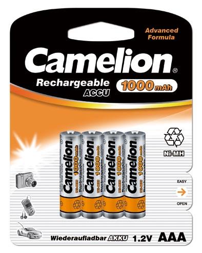 Recargable AAA 1000mAh (4 pcs) Camelion