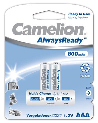 "Recargable ""Always Ready"" AAA 800mAh (2 pcs) Camelion"