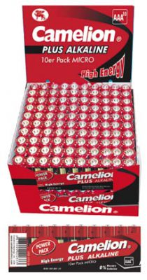 Plus Alcalina AAA 1.5V (20 packs * 10 pilas) Camelion