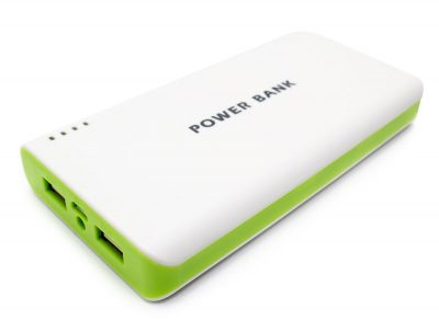 Power Bank 12000mAh LED Doble USB Verde