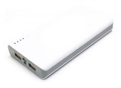 Power Bank 12000mAh LED Doble USB Plata