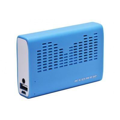 Power Bank 3200mAh + Altavoz Kloner Azul
