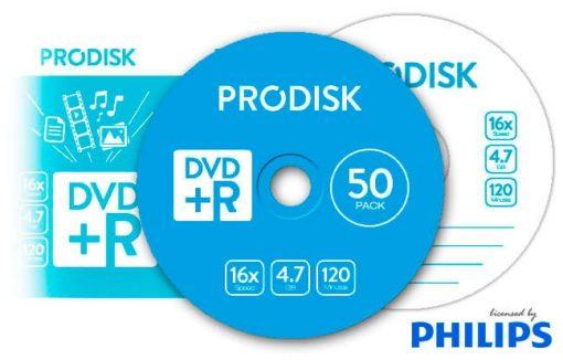 Tarrina DVD+R 4.7GB 16x Prodisk 50unds