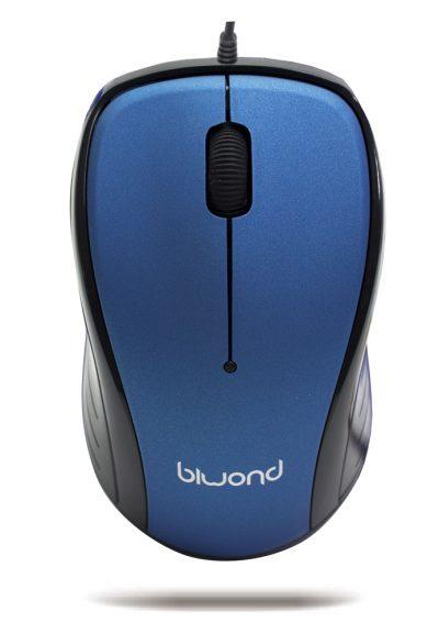 Ratón Wired 2.0 USB Azul Biwond