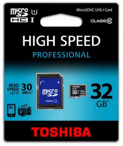 MicroSD 32GB Clase 10 Toshiba