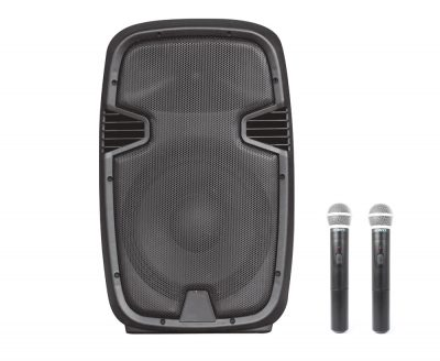"Altavoz Autoamplificado 300W 12"" USB/SD/RADIO/BLUETOOTH + 2 Mic"