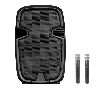 "Altavoz Autoamplificado 350W 15"" USB/SD/RADIO/BLUETOOTH + 2 Mic"